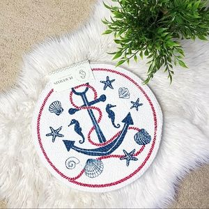 Secret Celebrity| Blue/Red Anchor Woven Placemats